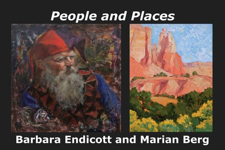 Art for February 2020 – People and Places – Barbara Endicott & Marian Berg